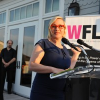 Patricia Arquette and Donna Karan – Giving Girls Wings to support WFLI
