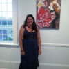 Lianne Alcon's Paintings Sizzle at Ashawagh Hall