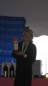 Martha Stewart receiving Wolffer's Rose
