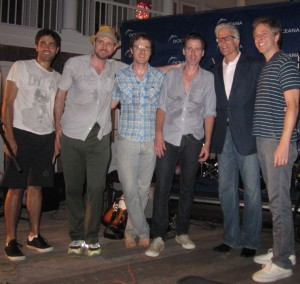 Adrian Grenier and the Honey Brothers with Ted Danson