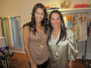 Shamin Abas & Samantha Yanks at opening
