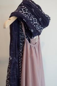 pachute dress and scarf