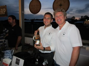 Leo and Tom Rosicki of Sparkling Pointe Vineyard