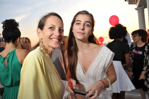 Designer Bonnie Young with daughter Celia Babini
