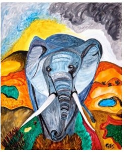 Elephant Art by Samantha Taylor